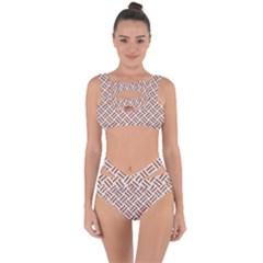 WOVEN2 WHITE MARBLE & RUSTED METAL (R) Bandaged Up Bikini Set