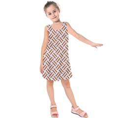 WOVEN2 WHITE MARBLE & RUSTED METAL (R) Kids  Sleeveless Dress