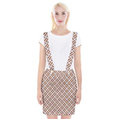 WOVEN2 WHITE MARBLE & RUSTED METAL (R) Braces Suspender Skirt
