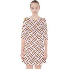 WOVEN2 WHITE MARBLE & RUSTED METAL (R) Pocket Dress