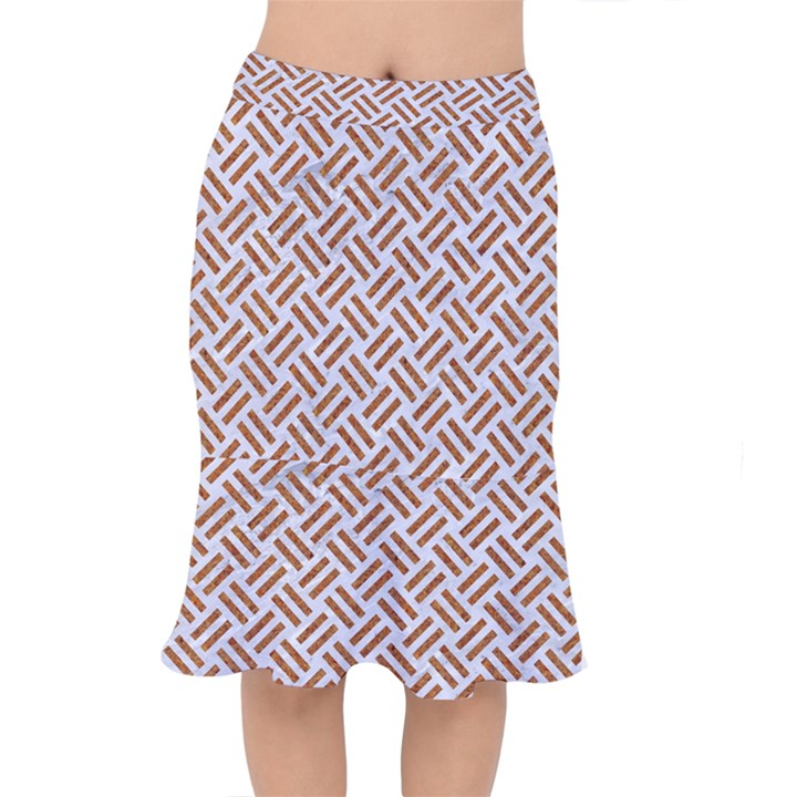 WOVEN2 WHITE MARBLE & RUSTED METAL (R) Mermaid Skirt