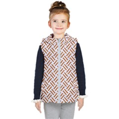 WOVEN2 WHITE MARBLE & RUSTED METAL (R) Kid s Hooded Puffer Vest