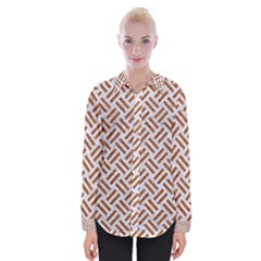 WOVEN2 WHITE MARBLE & RUSTED METAL (R) Womens Long Sleeve Shirt
