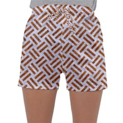 WOVEN2 WHITE MARBLE & RUSTED METAL (R) Sleepwear Shorts