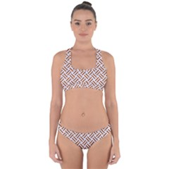 WOVEN2 WHITE MARBLE & RUSTED METAL (R) Cross Back Hipster Bikini Set