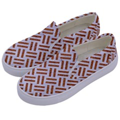 WOVEN2 WHITE MARBLE & RUSTED METAL (R) Kids  Canvas Slip Ons
