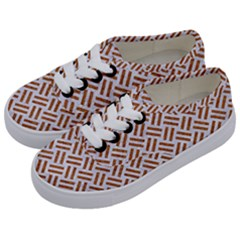 WOVEN2 WHITE MARBLE & RUSTED METAL (R) Kids  Classic Low Top Sneakers