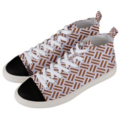WOVEN2 WHITE MARBLE & RUSTED METAL (R) Men s Mid-Top Canvas Sneakers