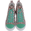 WOVEN2 WHITE MARBLE & RUSTED METAL (R) Women s Mid-Top Canvas Sneakers View1