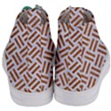WOVEN2 WHITE MARBLE & RUSTED METAL (R) Women s Mid-Top Canvas Sneakers View4