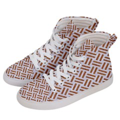 WOVEN2 WHITE MARBLE & RUSTED METAL (R) Women s Hi-Top Skate Sneakers