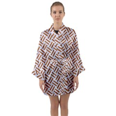 WOVEN2 WHITE MARBLE & RUSTED METAL (R) Long Sleeve Kimono Robe