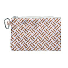WOVEN2 WHITE MARBLE & RUSTED METAL (R) Canvas Cosmetic Bag (Large)