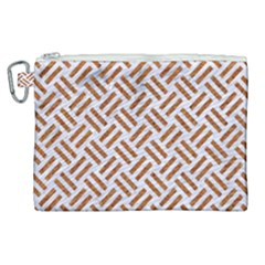 Woven2 White Marble & Rusted Metal (r) Canvas Cosmetic Bag (xl) by trendistuff
