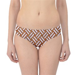 Woven2 White Marble & Rusted Metal Hipster Bikini Bottoms