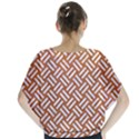 WOVEN2 WHITE MARBLE & RUSTED METAL Blouse View2
