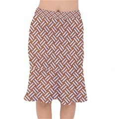Woven2 White Marble & Rusted Metal Mermaid Skirt by trendistuff
