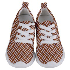 Woven2 White Marble & Rusted Metal Kids  Lightweight Sports Shoes