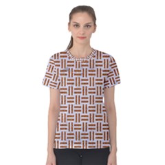 Woven1 White Marble & Rusted Metal (r) Women s Cotton Tee