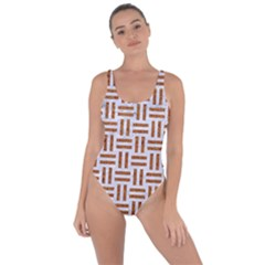 Woven1 White Marble & Rusted Metal (r) Bring Sexy Back Swimsuit