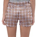 WOVEN1 WHITE MARBLE & RUSTED METAL (R) Sleepwear Shorts View2