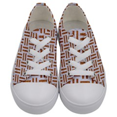 Woven1 White Marble & Rusted Metal (r) Kids  Low Top Canvas Sneakers