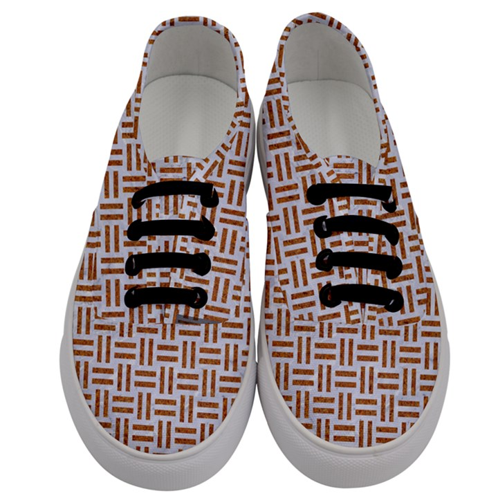 WOVEN1 WHITE MARBLE & RUSTED METAL (R) Men s Classic Low Top Sneakers