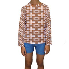 WOVEN1 WHITE MARBLE & RUSTED METAL Kids  Long Sleeve Swimwear