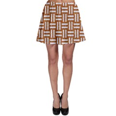 WOVEN1 WHITE MARBLE & RUSTED METAL Skater Skirt
