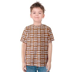 WOVEN1 WHITE MARBLE & RUSTED METAL Kids  Cotton Tee