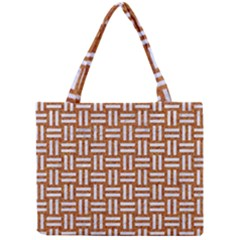 WOVEN1 WHITE MARBLE & RUSTED METAL Mini Tote Bag