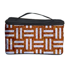 WOVEN1 WHITE MARBLE & RUSTED METAL Cosmetic Storage Case