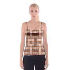 WOVEN1 WHITE MARBLE & RUSTED METAL Spaghetti Strap Top