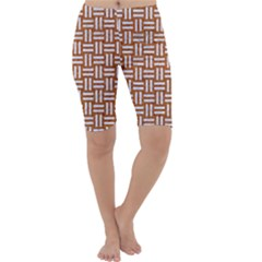 WOVEN1 WHITE MARBLE & RUSTED METAL Cropped Leggings