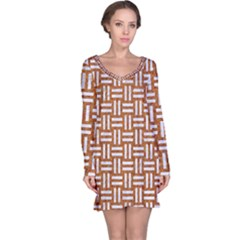 WOVEN1 WHITE MARBLE & RUSTED METAL Long Sleeve Nightdress