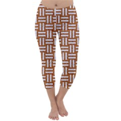 WOVEN1 WHITE MARBLE & RUSTED METAL Capri Winter Leggings