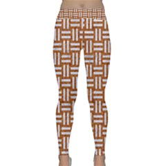 WOVEN1 WHITE MARBLE & RUSTED METAL Classic Yoga Leggings