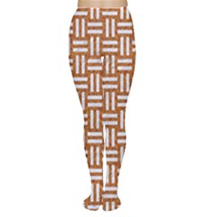 WOVEN1 WHITE MARBLE & RUSTED METAL Women s Tights