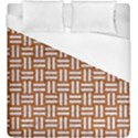 WOVEN1 WHITE MARBLE & RUSTED METAL Duvet Cover (King Size) View1