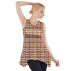WOVEN1 WHITE MARBLE & RUSTED METAL Side Drop Tank Tunic