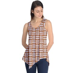 WOVEN1 WHITE MARBLE & RUSTED METAL Sleeveless Tunic