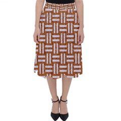 WOVEN1 WHITE MARBLE & RUSTED METAL Folding Skater Skirt