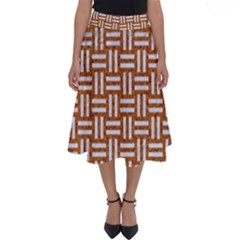 WOVEN1 WHITE MARBLE & RUSTED METAL Perfect Length Midi Skirt