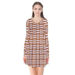 WOVEN1 WHITE MARBLE & RUSTED METAL Flare Dress
