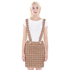 WOVEN1 WHITE MARBLE & RUSTED METAL Braces Suspender Skirt