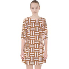 WOVEN1 WHITE MARBLE & RUSTED METAL Pocket Dress