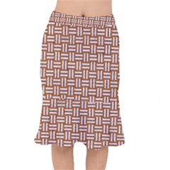 WOVEN1 WHITE MARBLE & RUSTED METAL Mermaid Skirt