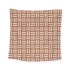 WOVEN1 WHITE MARBLE & RUSTED METAL Square Tapestry (Small)