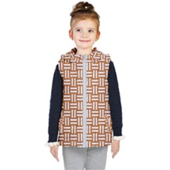 WOVEN1 WHITE MARBLE & RUSTED METAL Kid s Hooded Puffer Vest