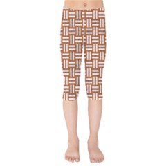 WOVEN1 WHITE MARBLE & RUSTED METAL Kids  Capri Leggings